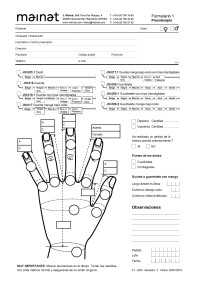 New Pressotherapy Forms for Custom made garments